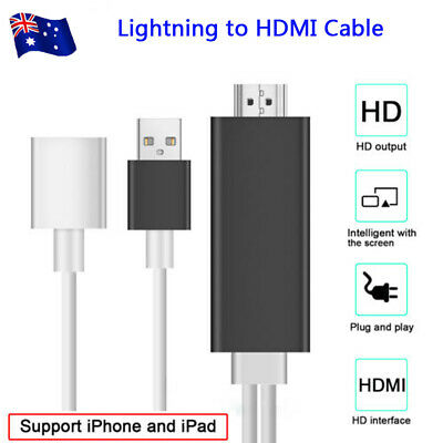 AU18.95 • Buy USB MHL To HDMI 1080P TV Adapter Cable For  Apple IPhone/iPad 6 7 8 X AU