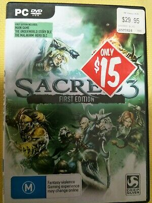 AU9.95 • Buy Sacred 3 First Edition - Pc ~ Free Post  ~ Like New
