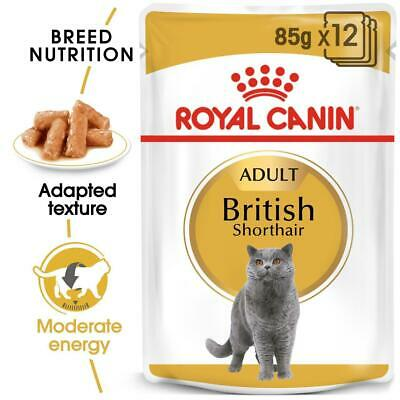 Royal Canin British Shorthair Adult Wet Cat Food Pouches In Gravy 85g X 48 • 45.49£