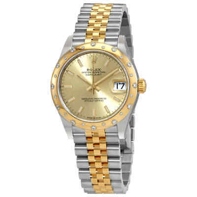 $ CDN18686.38 • Buy Rolex Datejust 31 Champagne Dial Automatic Ladies Steel And 18kt Yellow Gold