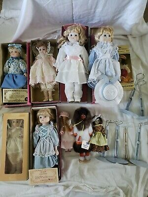 $ CDN27.05 • Buy  Vintage Porcelain Dolls Lot Of 10 From 1980/90's W/boxes And Stands Brinns