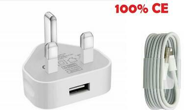 £4.99 • Buy UK Plug Wall Charger & USB Cable Compatible Phone Xs Xe 8 7 6 5 Plus IPad 11pro