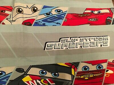 Disney Pixar Cars 2 Flat Sheet Fabric TWIN Size Crafting,Sewing Franco • 15.39£