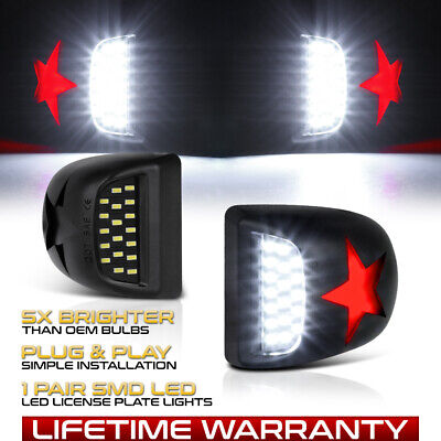 $12.99 • Buy [RED STAR] LED License Plate Light FOR 00-06 Tahoe Suburban Yukon XL 1500 2500