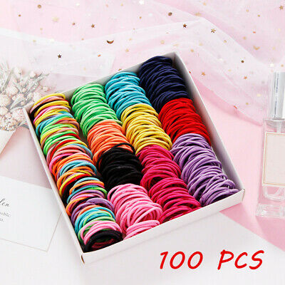 $ CDN3.36 • Buy 100Pcs Kids Girl Elastic Rope Hair Ties Ponytail Holder Rubber Band Hairband