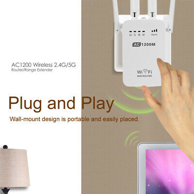 AU48.96 • Buy AC1200 2.4G 5GHz 2Band WiFi Repeater &Router Wireless Range Extender US EU AU UK