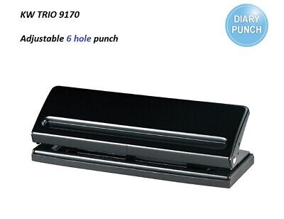 AU39.95 • Buy KW TRIO 9170 Adjustable Diary 6 HOLES Paper Punch For 6 Sheets A4/A5/A3/B4/B5