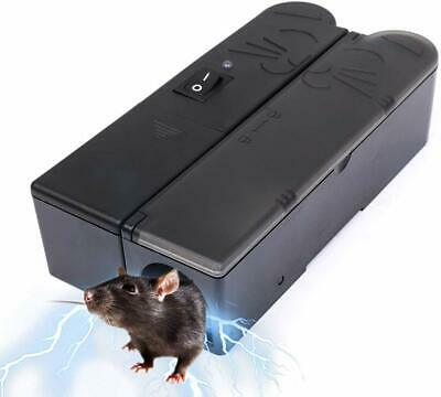 Mouse Trap Electronic Mice Rodent Killer Rat Pest Control Electric Zapper UK EU • 18.99£