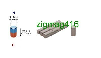 $ CDN7.50 • Buy D3/16  X 1/4  Thick, N52, Rare Earth, Neodymium Cylinder Magnets - Pack Of 25