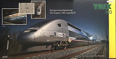 AU1258.70 • Buy Trix 22790 H0 High Speed Train Tgv Duplex V 150 Digital Sound Certificate
