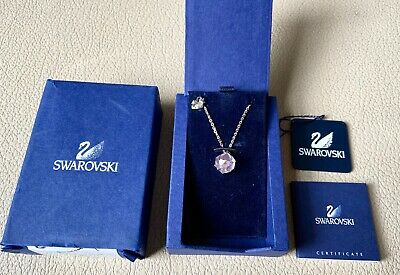 New Swarovski Necklace Crystal Pendant Silver Chain Jewellery Genuine Pink Swan • 54.99£