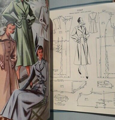 VINTAGE HASLAM SYSTEM OF DRESSCUTTING Illustrated Book Of Drafting. No. 20 1940s • 8.99£