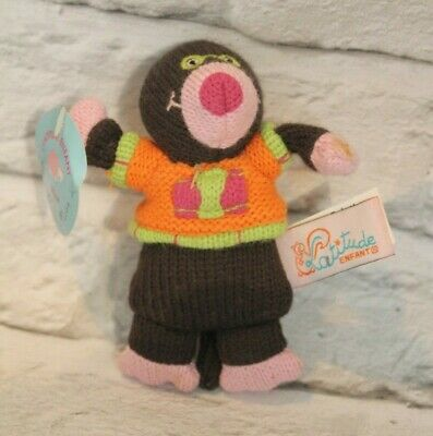 Tiny Knitted 'Alice The Mole'. Perfect Condition. LATITUDE ENFANT • 4£