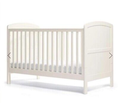 Cot Cotbed/ Crib+ Mattress + Top Changer -Bed Convertible & Toddler Bed 3 In 1 • 69£