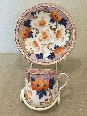 Crown Staffordshire ~ Small Coffee Cup & Saucer C.1890 Rich Imari Pattern • 5.25£