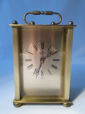 Vintage 'Royal', Germany, Battery Operated Quartz Carriage Clock. Working Order. • 5£