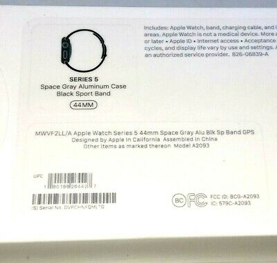 $ CDN392.47 • Buy Apple Watch Series 5 (GPS, 44mm) - Space Gray Aluminum Case With Black Band