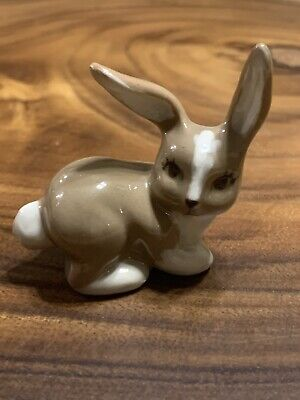 $5 • Buy Vintage Ceramic Arts Studio Miniature/Small Bunny Rabbit