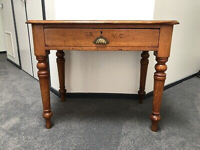 AU70 • Buy Antique Table Circa 1900 Pine Victorian Public Servant Desk
