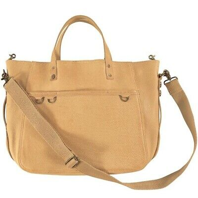 AU220 • Buy Large Leather Noosa Amsterdam Roots Tote Shopper Bag, Tan, Crossbody