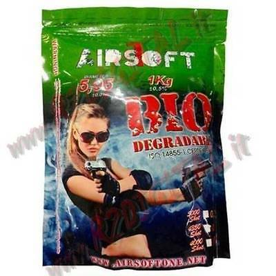 AU17.77 • Buy Pellets Envelope Airsoft One Bio 1Kg 5000Pz BB 0.20 Gr Biodegradable 6mm Softair