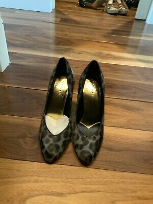 Ted Baker Grey Pattered Shoes With Metallic Heel - Size 38 (5) • 9.60£