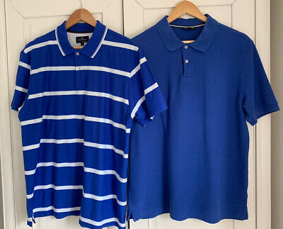 Mens Marks And Spencer Blue Harbour Polo Shirts Size Large X 2  • 5£