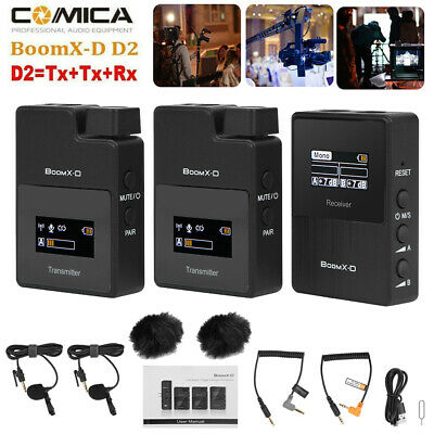 Comica BoomX-D2 2.4G Wireless Microphone System For Phone DLSR Sony Nikon Canon • 157.99£
