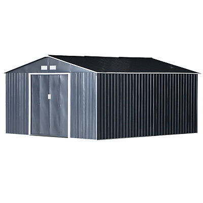 £1056.16 • Buy Steel Storage Shed Sliding Door Unit Equipment Lawn Building Container Large New