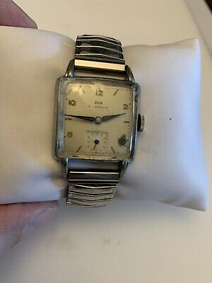 $ CDN16.30 • Buy Vintage Avia 15 Jewels Manual Wind Men's Watch Working But Sold For Parts