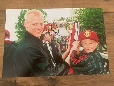 PETER SCHMEICHEL - Hand Signed 12x8 Photo - Manchester United Man Utd - Football • 18.99£
