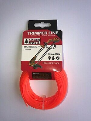 HEAVY DUTY STRIMMER LINE 1.6 Mm X 15 M PETROL,CORDED & CORDLESS WIRE CORD • 3.99£