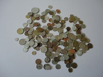 Large Job Lot Of Mixed Foreign Coins 3 Bags Full  • 7£