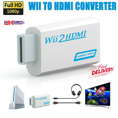 3.5mm Jack Audio Wii Input To HDMI 1080P HD Audio Output Converter Adapter Cable • 4.59£