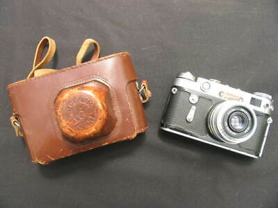 Vintage Zorki 6 Russian Camera. Industar F3.5 / 50mm Lens. Original Case & Strap • 45£