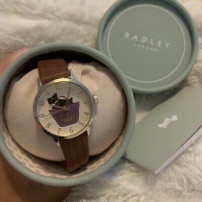 $27.85 • Buy Radley Watch Womens New Dog Dial Leather Brown Strap