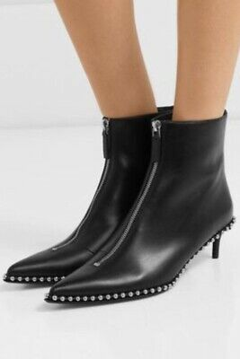 AU350 • Buy Alexander Wang Leather Eri Low Boots Size 40 RRP $1150