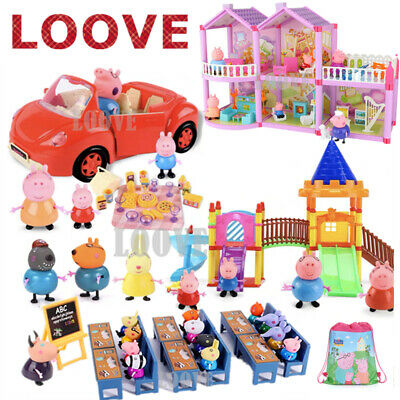 AU24.99 • Buy Play Set+ Peppa Pig Figures Playground Car House Gift Kid Toy Children Character