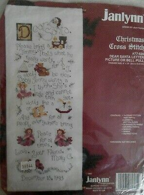 Christmas - Dear Santa Bell Pull - Counted Cross Stitch Kit  • 18.99£