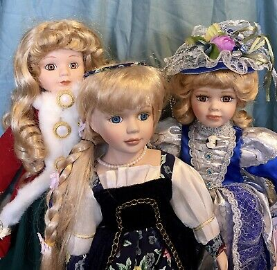 $ CDN11.50 • Buy Lot 3 Collectible Porcelain Doll