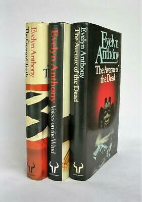 Evelyn Anthony: Voices On The Wind; Avenue Of The Dead; Grave Of Truth; 1st Edns • 10£