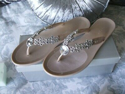 Holster Toe Posts In Champagne Size 7 • 2£