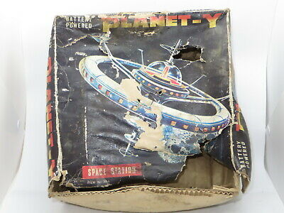 Vintage EMPTY BOX For Tinplate Toy BATTERY OPERATED SPACE STATION PLANET - Y • 4.99£