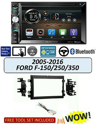 £133.38 • Buy Bluetooth Touchscreen CAR STEREO 05-16 Ford F 150/250/350, Soundstream VR-620HB