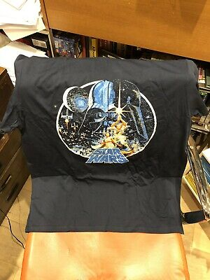 Brand New Star Wars A New Hope Vintage Victory Men's T-shirt Navy Large Size L • 12.95£