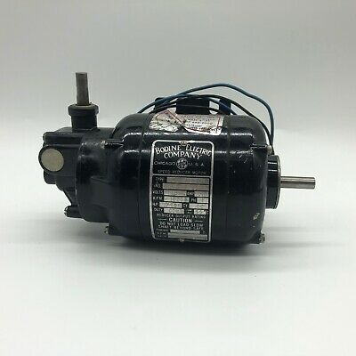 $75 • Buy Bodine Electric Gear Speed Reduction Motor NSI-12RA1 115v AC 1/70 HP 1725 RPM