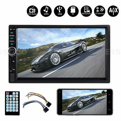 AU43.78 • Buy 2 DIN Car Stereo Player Bluetooth Handsfree Radio USB AUX Head Unit Touchscreen