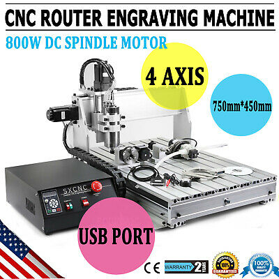 $944.90 • Buy 4 AXIS MACH3 6040Z CNC Router Engraver Drill Milling Machine Wood Art 1.5KW VDF