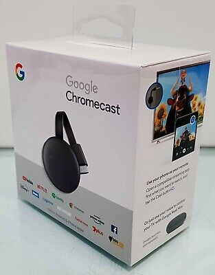 AU79.90 • Buy New Google Chromecast ( 3rd Generation ) HD Media Streamer GA00439-AU MFG 2020