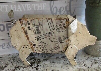 $ CDN60.90 • Buy Metal PIG Sculpture*Primitive Home/French Country Barn Farmhouse Decor*NEW!